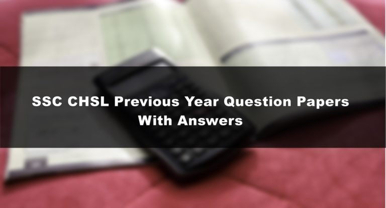 SSC CHSL question paper with answer key