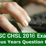 Download SSC CHSL Previous Year Question Paper in PDF