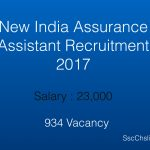 New India Assurance Assistant Recruitment 2017 – 934 Post Vacancy