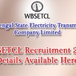 WBSETCL Recruitment 2017 | Apply Online for 477 Sub Asst Engineer