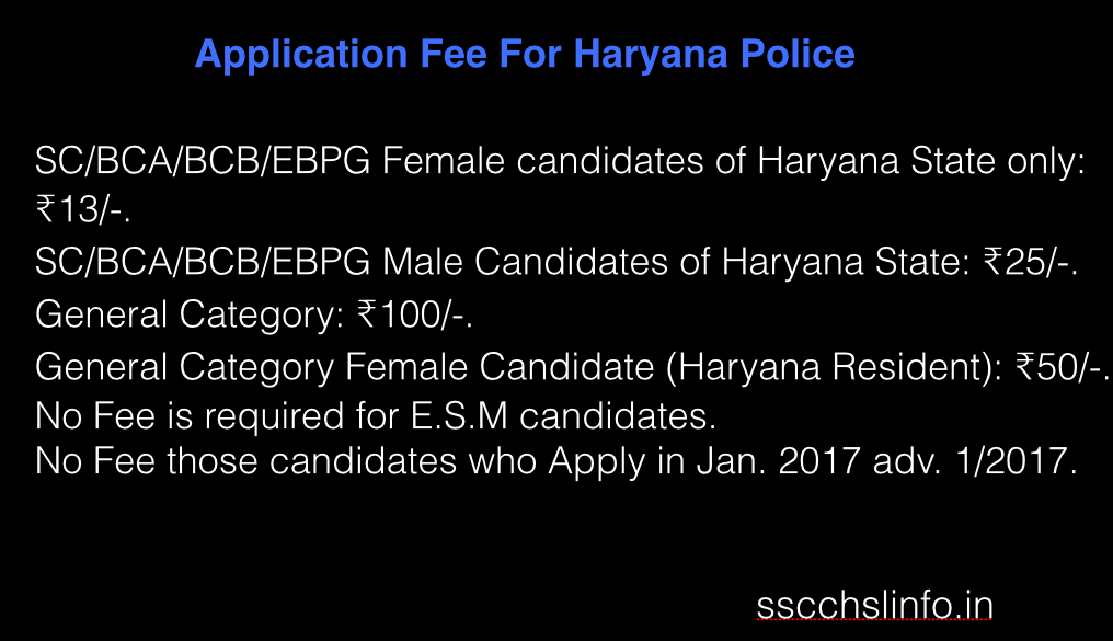 Haryana Police Constable Recruitment 2017