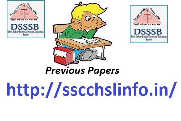 DSSSB QUESTION PAPERS