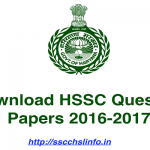 HSSC Question Papers – HSSC Previous Year Papers in PDF Download