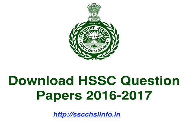 HSSC Question Papers