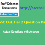 [Free*] SSC CGL Tier 2 Question Paper with Solution Download in Pdf