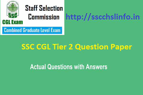 ssc cgl tier 2 question paper