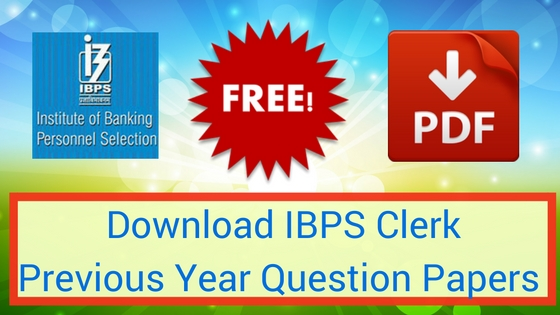 IBPS Clerk Previous Papers