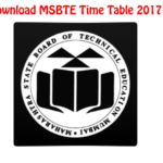 [Latest*] MSBTE Time Table for Winter 2017 of Diploma Students
