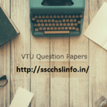 VTU Model Question Papers Download here In PDF Format