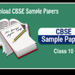 CBSE Sample Papers For Class 10 in PDF free of Cost