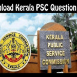 Kerala PSC Question Paper Download in PDF with Solution