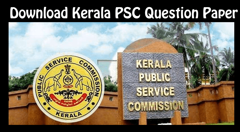 Kerala PSC Question Paper