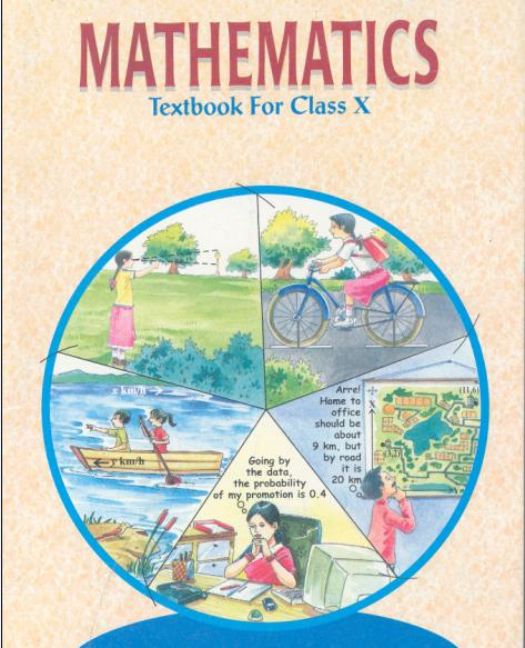 NCERT Class 10th Maths Book PDF English & Hindi Medium