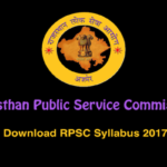 RPSC Syllabus -Rajasthan Public Service Commission Syllabus Main & Pre