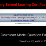 SSLC Model Question Papers in PDF with Solution
