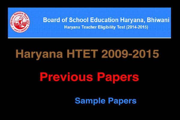 Latest] HTET Previous Papers With Answers in Pdf Free