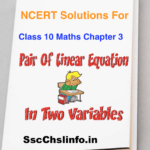 NCERT Solutions For Class 10 Maths Chapter 3 in English Medium